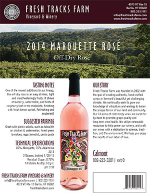 Fresh Tracks Farm Wine: 2014 Marquette Rosé