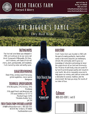 Fresh Tracks Farm Wine: The Digger's Dance