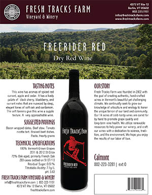 Fresh Tracks Farm Wine: Freerider Red